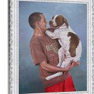 "Oil paintings from photographs, 1 Pet and 1 Person, 16""x20"", unframed - Photo oil painting"