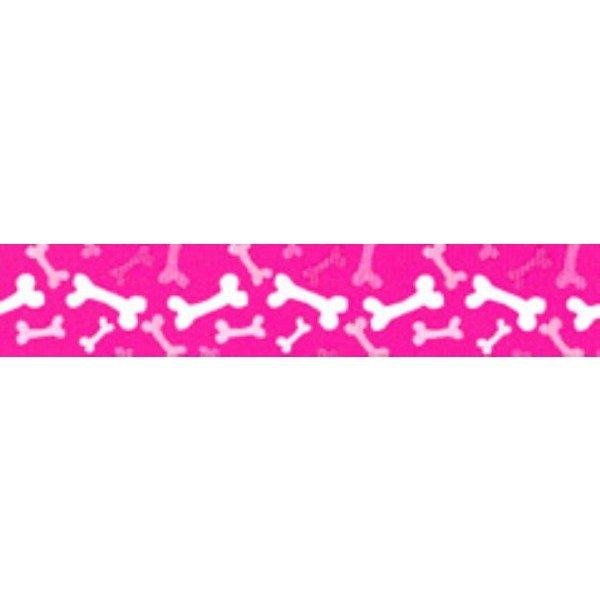 TuffLock Pink Bones Collar- Large