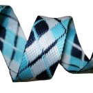 Navy, White and Light Blue Reversible Argyle Belt