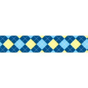 TuffLock Blue Argyle Collar- Small
