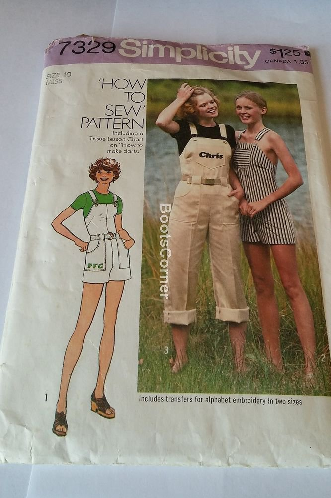 UNCUT Simplicity Sewing Pattern #7329 - Jumpsuit in 2 Lengths - Size 10