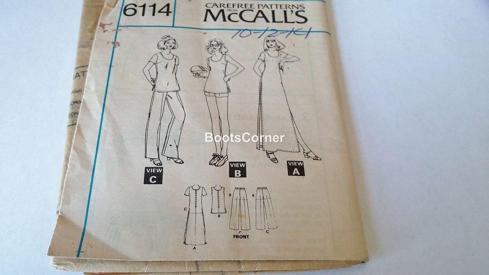 UNCUT McCall's Sewing Pattern #6114 - Dress Top Pants Shorts - Size 10 11 12