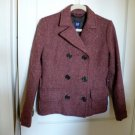 GAP Size 4 Womens Wool Red Brown Basic Jacket/Blazer Coat
