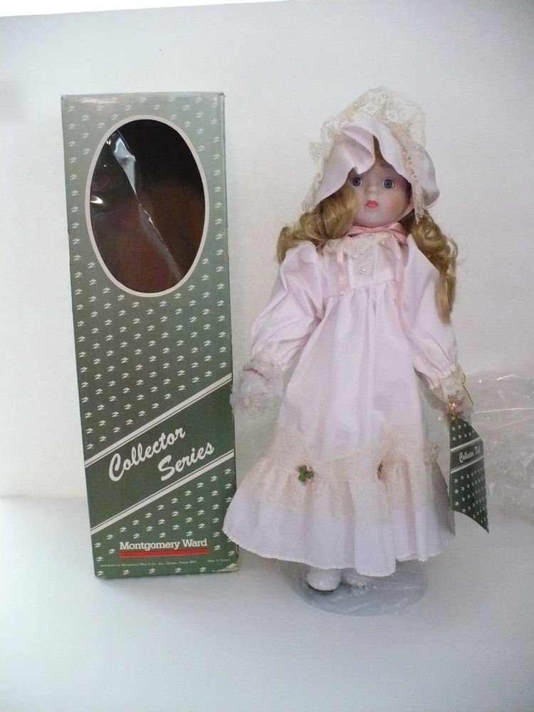 Collectible Porcelain Doll w/Stand