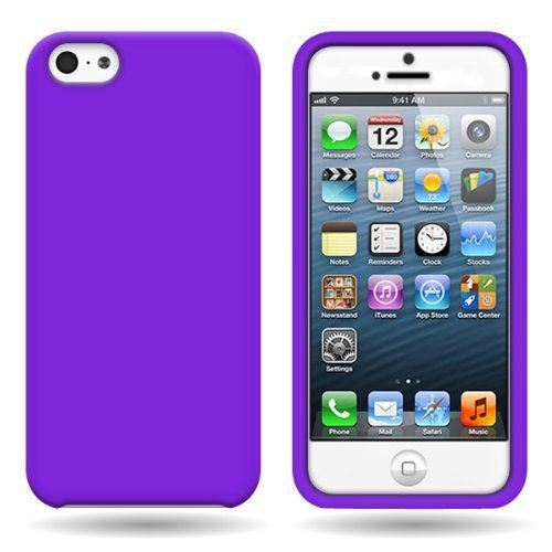 Silicone Fitted Soft Skin Case Cover for Apple iPhone 5 / 5S - Purple