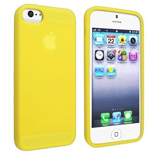 Silicone Fitted Skin Case Compatible With Apple iPhone 5 / 5S - Yellow