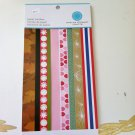 Martha Stewart Crafts Holiday Paper Border Pad Scrapbooking 12 sheets
