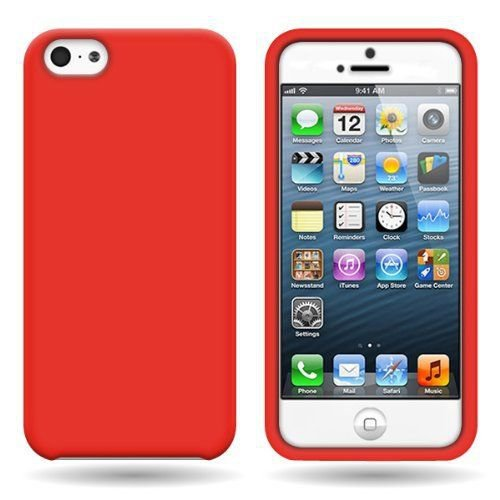 Silicone Fitted Soft Skin Case Cover for Apple iPhone 5 / 5S - Red