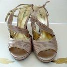 Kelly & Katie Sandals Size 8.5 Wide Ankle Strap Beige