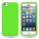 Silicone Fitted Soft Skin Case Cover for Apple iPhone 5 / 5S - Green