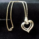 Gold Heart Necklace with pendant
