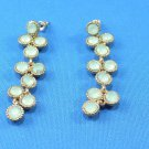 Pale Green Dangle Surgical Steel Pierce Earrings