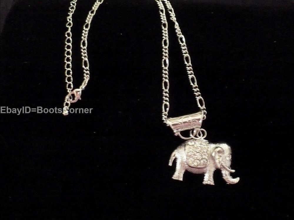 Crystal Elephant Animal Necklace Acrylic Pendant