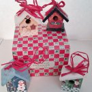 Christmas Ornaments Set of 4 Bird Houses