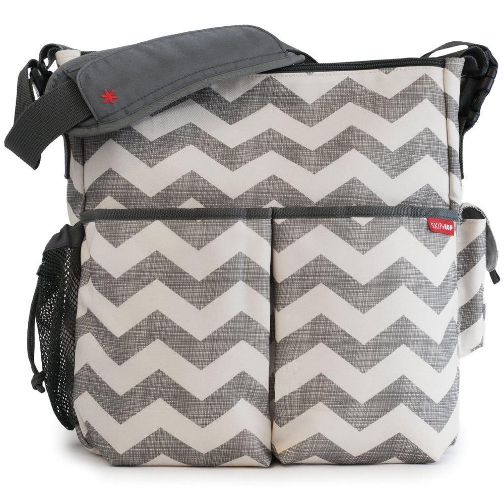 Skip Hop Duo Deluxe CHEVRON Essentials  Diaper Bag Stroller Baby
