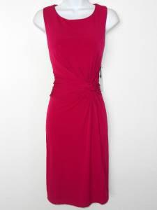 Muse Dress Medium M Deep Berry Pink Knot Cutout Stretch NWT
