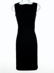 Calvin Klein CK Dress Size Sz 6 Black Sheath Zipper Career Cocktail NWT