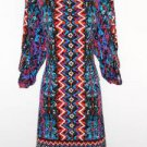Laundry by Shelli Segal Dress Size 4 Shift Mini Colorful Boho Aztec Print NWT