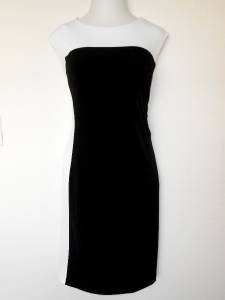 Connected Apparel Dress Size 22W Black White Colorblock Stretch Versatile New