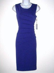 Calvin Klein CK Dress Size Sz 10 Grape Purple Sheath Starburst Knit NWT New