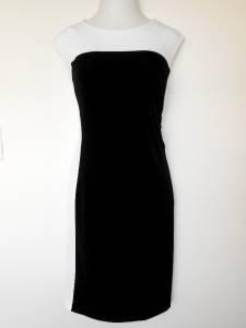 Connected Apparel Dress Size 16W Black White Colorblock Stretch Versatile New