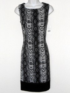Ronni Nicole Dress Size 6 Gray Black Snakeskin Print Stretch Sheath NWT
