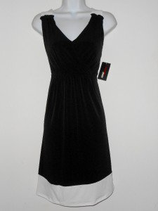Miss Sixty 60 Dress Small S Black White Colorblock Babydoll Versatile NWT