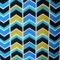 Calvin Klein Dress Size 6 Blue Multi Zigzag Geometric Print Stretch NWT