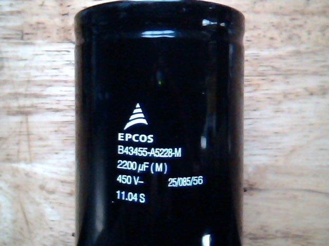 2200uF 450V EPCOS HQ 2pcs capacitors