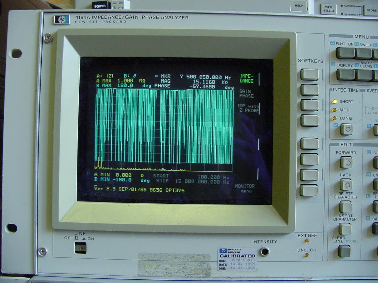 Hewlett Packard 4194A Impedance/Gain-Phase Analyzer