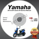 2012 2013 2014 Yamaha ZUMA 50 Scooter Service Manual CD ROM repair shop YW50