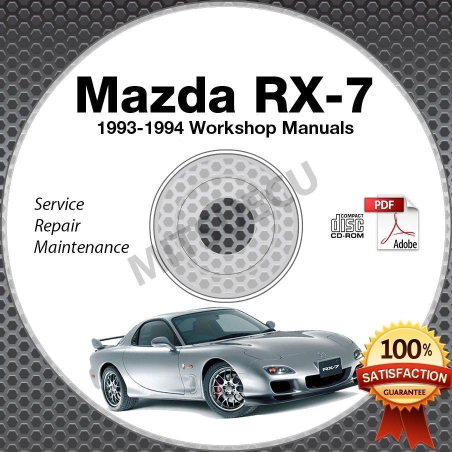 1993-1994 Mazda RX7 FD Workshop Manual + Parts + Electrical CD Service Repair