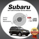 2011-2013 SUBARU FORESTER Service Manual CD ROM 2.5L 2012  repair workshop X XT
