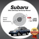 2003-2006 SUBARU BAJA (Base Sport Turbo) Service Manual CD Repair 2.5L + BONUS