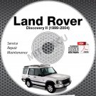 1999-2004 Land Rover DISCOVERY II Service Manual CD ROM repair series 2 02 03