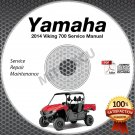 2014 Yamaha VIKING 700 Service Manual CD ROM repair shop UTV side by side