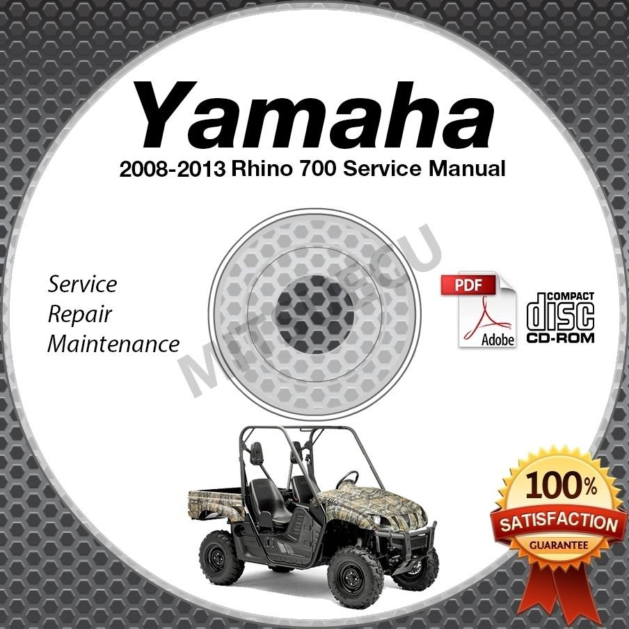 2008-2013 Yamaha RHINO 700 Service Manual CD ROM repair shop LIT-11616-RH-70