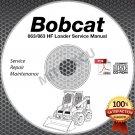 Bobcat 863 / 863 HF Loader Service Manual CD repair shop (SN 514X25001 and UP)