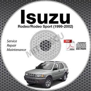 1999-2002 Isuzu Rodeo + Sport Service Repair Manual CD ROM 2000 2001 workshop