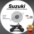 2006 2007 2008 2009 Suzuki LT-R450 QuadRacer Service Manual CD ROM repair shop