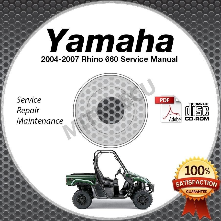 2004-2007 Yamaha RHINO 660 Service Manual CD ROM repair shop LIT-11616-RH-68