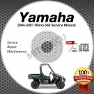 2004-2007 Yamaha RHINO 660 Service Manual CD ROM repair shop LIT-11616-RH-68