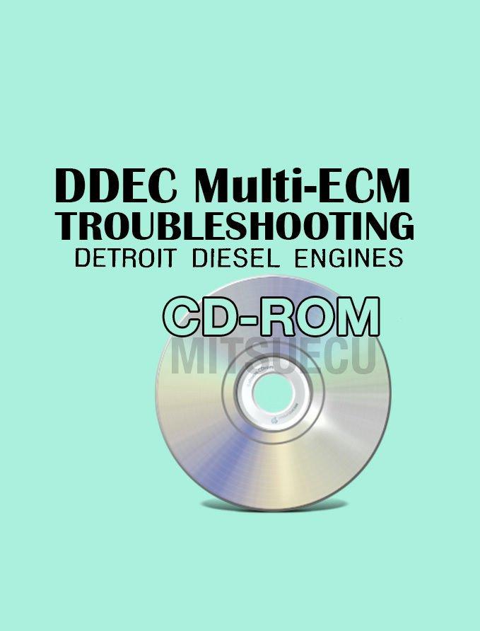 Detroit Diesel DDEC Multi ECM Troubleshooting Manual CD ROM diagnostics 6SE496