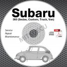 1958-1971 Subaru 360 Service Manual CD ROM Sedan, Custom, Truck, Van Repair