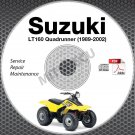 1989-2002 Suzuki LT160 / LT-F160 Quadrunner Service Manual CD atv repair
