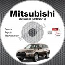 2010-2013 Mitsubishi Outlander Service Manual CD ROM repair workshop 2011 2012
