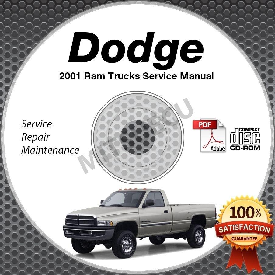 2001 Dodge Ram 1500 2500 3500 Truck Gas + Diesel Service Manual CD shop repair