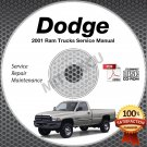 2001 Dodge Ram 1500 2500 3500 Truck Gas + Diesel Service Manual CD shop repair
