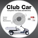 2003 Club Car Carryall / Turf Service Manual CD ROM Gas + Electric 1 2 6 XRT