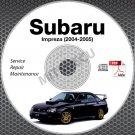 2004-2005 SUBARU IMPREZA Sedan WRX STi Wagon Service Repair Manual CD